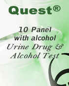 Quest Diagnostics®10 Panel Drug and Alcohol