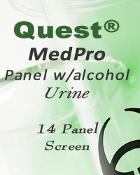 Quest Diagnostics Medical Professional DrugScreen 14 Panel URINE
