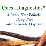Quest Diagnostics® 5 Panel Hair Drug Screen -Expanded Opiates
