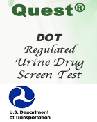 DOT  QUEST--Panel Quest Diagnostics Urine Drugscreen (Regulated)